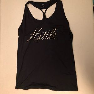 "Black ""Hustle"" Workout Tank"